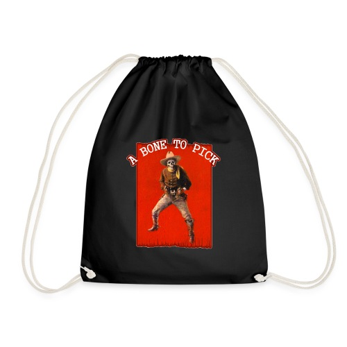 Vintage Skeleton Outlaw Cowboy - Drawstring Bag