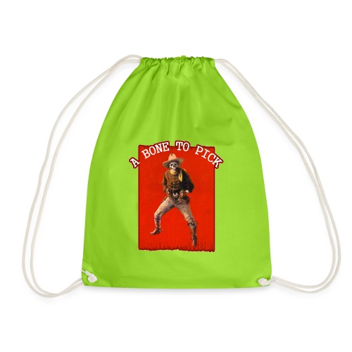 Vintage Skeleton Outlaw Cowboy - Drawstring Bag