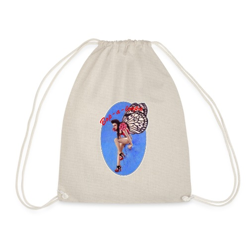 Vintage Rockabilly Butterfly Pin-up Design - Drawstring Bag
