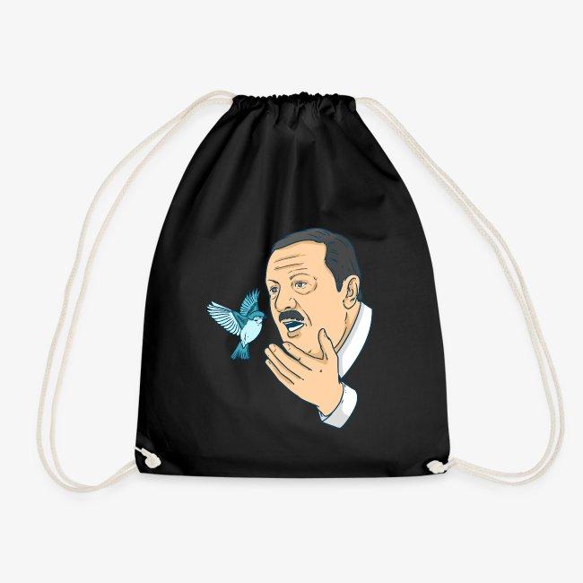 Shirtmeup Erdogan Twitter War Dove Satire Turkey Gift Drawstring Bag