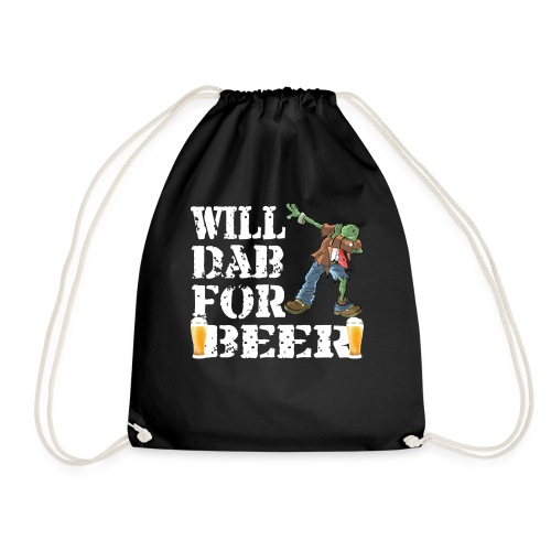 Cool Halloween Zombie Will Dab For Beer. Beer Lover Gift - Drawstring Bag