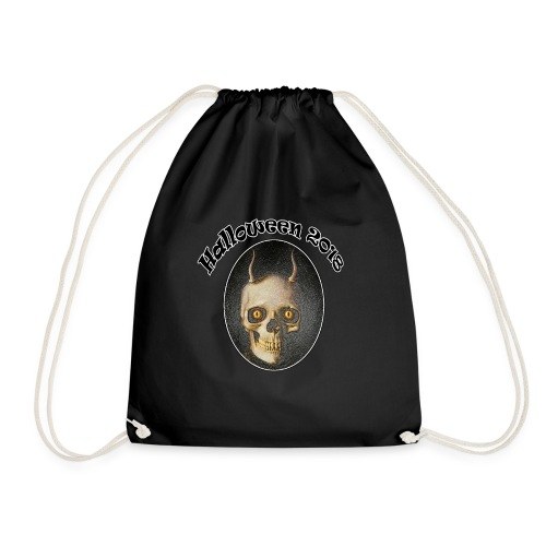 Halloween 2018 Horned Devil Skull - Drawstring Bag