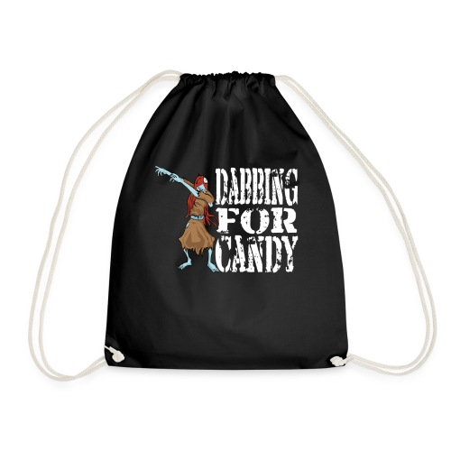 Funny Halloween Zombie Girl Dabbing For Candy. Trick or Treat Candy Lover Gift - Drawstring Bag