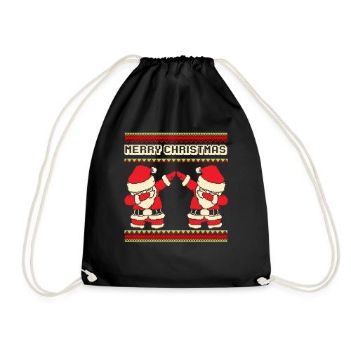 Dabbender Weihnachtmann dabbing santa Tanzen - Turnbeutel