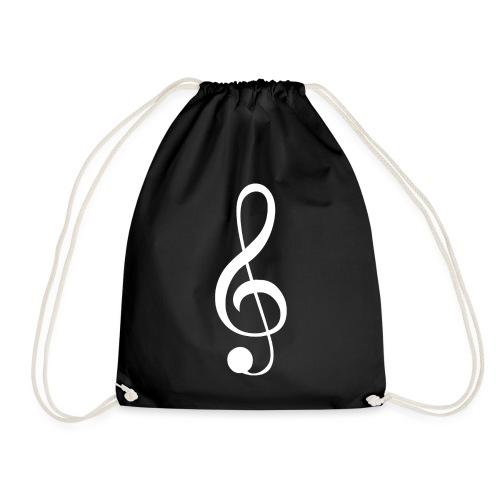 Musik Symbol Violinschlüssel Notenschlüssel - Turnbeutel