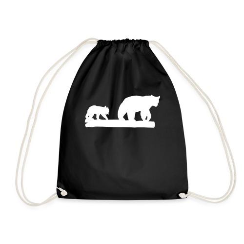 Bär Bären Grizzly Raubtier Wildnis Nordamerika - Turnbeutel