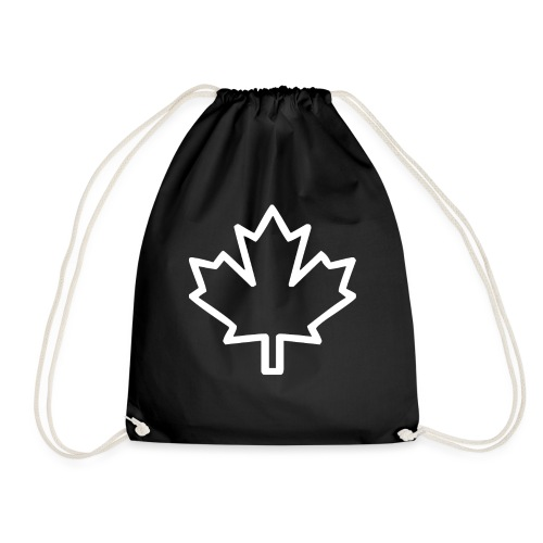 Kanada Silhouette Symbol Ahornblatt Nationalität - Turnbeutel