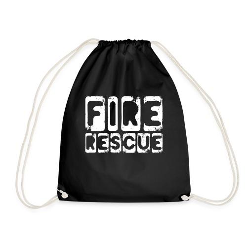 Fire Rescue Feuerrettung Feuerwehr Retter - Turnbeutel