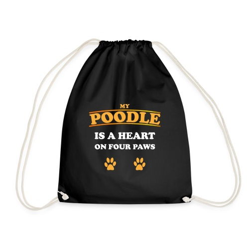 Poodle Hund - Turnbeutel