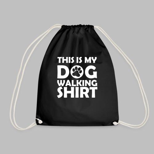Hundepfote This is my DOG WALKING SHIRT Geschenk - Turnbeutel