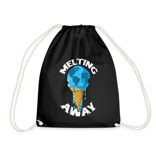 Our World Melting Away - Drawstring Bag