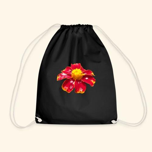 rote Ringelblume mit Regentropfen, Blume, Blüte - Turnbeutel