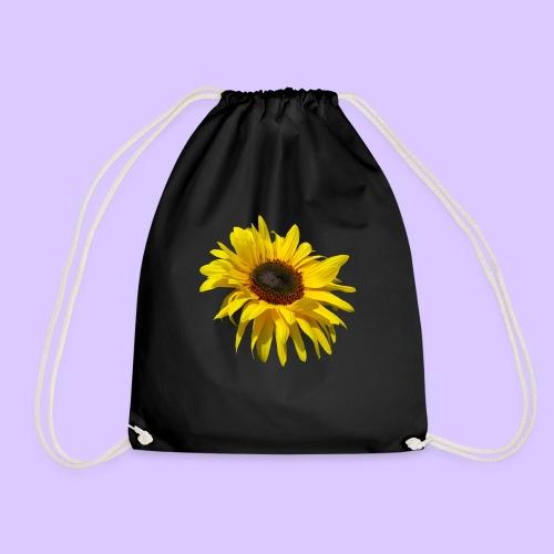 blühende Sonnenblume, Sonnenblumen, Blumen, Blüten - Turnbeutel