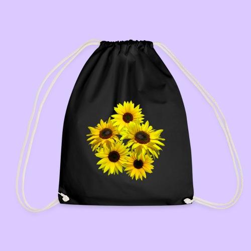 Sonnenblumenstrauss, Sonnenblume, Sonnenblumen - Turnbeutel