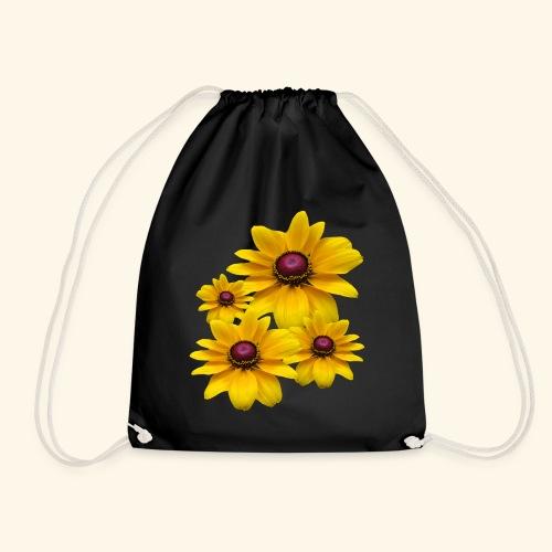 gelb blühende Sonnenhut Blumen, Blüten, floral, - Turnbeutel