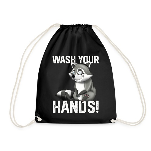 Wash Your Hands | Raccoon Lover | Wash Hand - Sacca sportiva