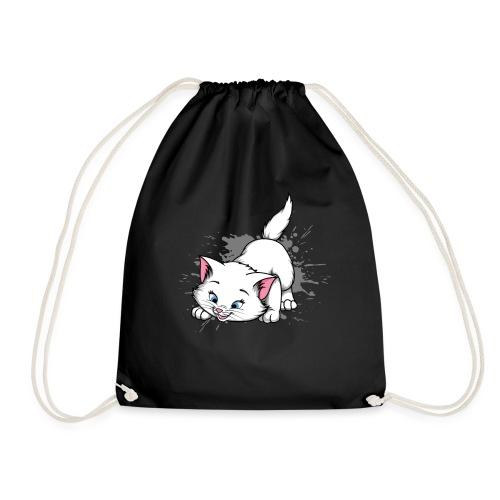 Katze Splash Pfützen Sprung - Turnbeutel