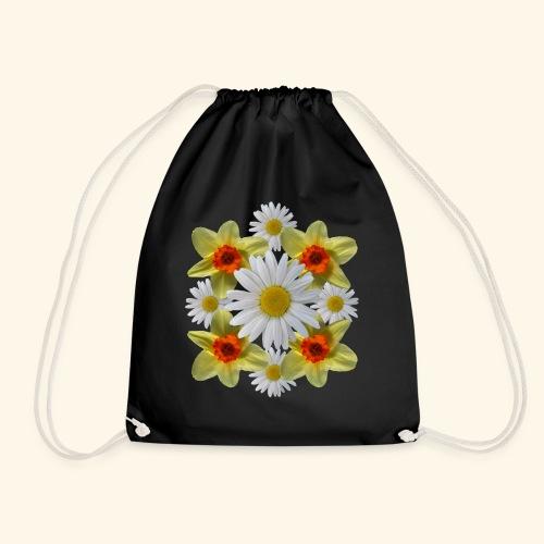 Narzissen Margeriten Osterglocken Blumen Blüten - Turnbeutel
