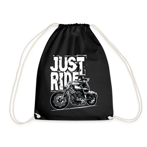 Biker Girl White - Drawstring Bag