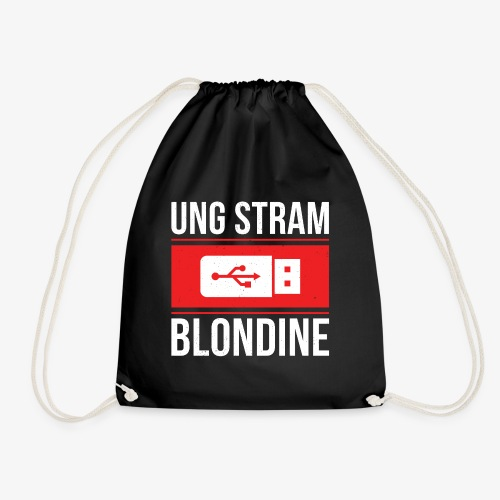 Ung Stram Blondine - Hvid - Sportstaske