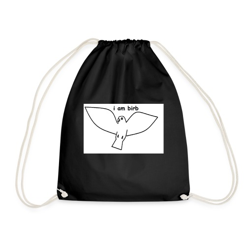i am birb - Drawstring Bag