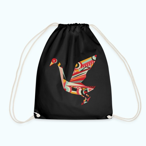 Origami bird Japanese - Drawstring Bag