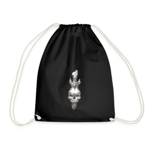 with love comes death - Drawstring Bag