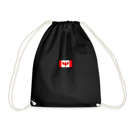 pixel canada flag - Drawstring Bag