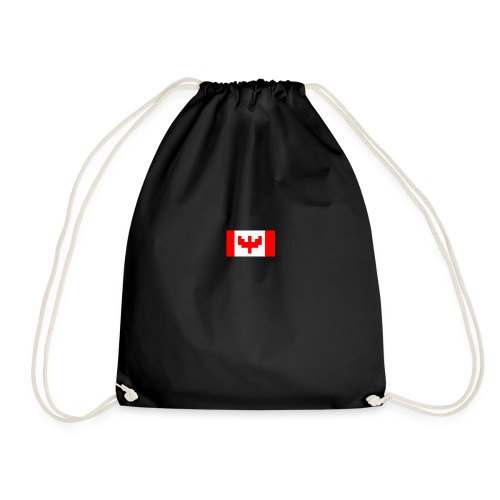 pixel canada flag - Drawstring Bag