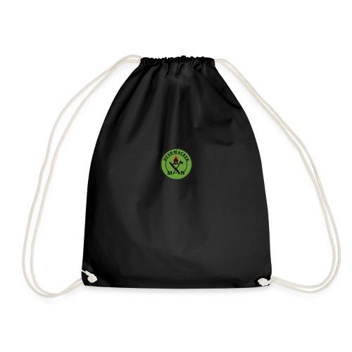 bushwackers logo green - Drawstring Bag