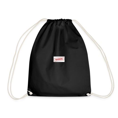 Warning design - Drawstring Bag