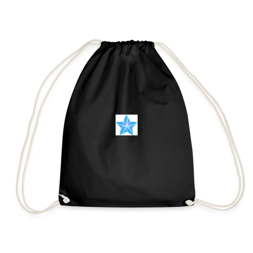 blue themed christmas star 0515 1012 0322 4634 SMU - Drawstring Bag