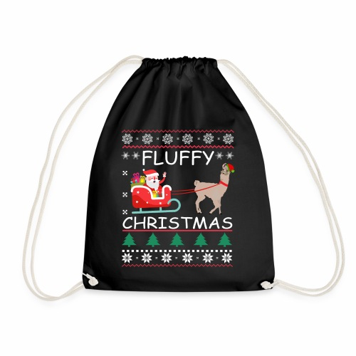 Fluffy Alpaca Christmas - Turnbeutel
