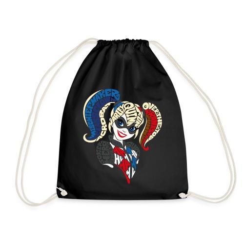 DC Super Hero Girls Harley Quinn Typografie - Turnbeutel