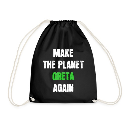 Greta Umweltschutz Welt Klimaschutz Klimawandel - Turnbeutel