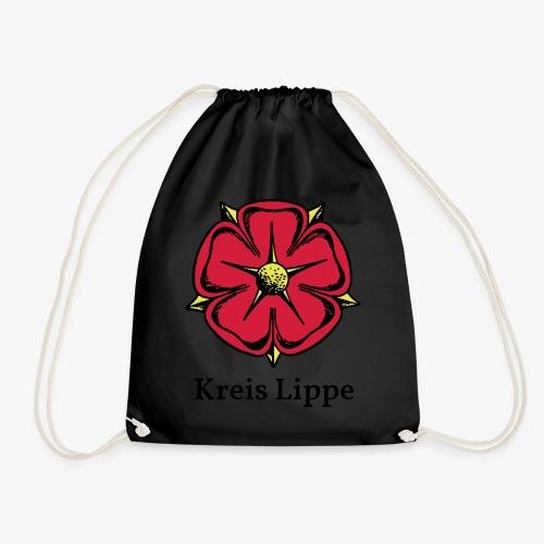Lippische Rose mit Unterschrift Kreis Lippe - Turnbeutel