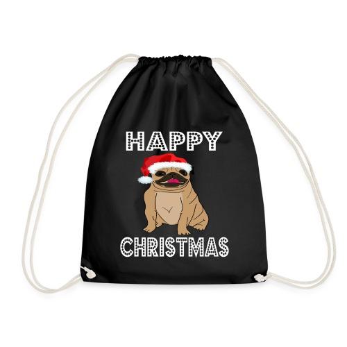 Hund Weihnachten Lustig geschenkidee Santa Claus - Turnbeutel
