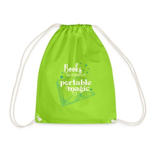0030 books are unique magic | Magic - Drawstring Bag