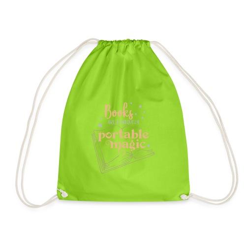 0029 books | Book | Reading | Reader | magic - Drawstring Bag