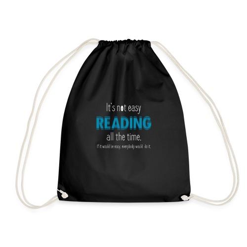 0153 Always Reading | Book | Bookrebels | reader - Drawstring Bag
