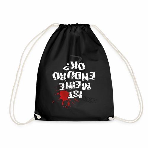 Ist meine Enduro ok? (weißer Text) - Drawstring Bag
