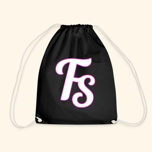 fs logo met een roze out line - Gymtas