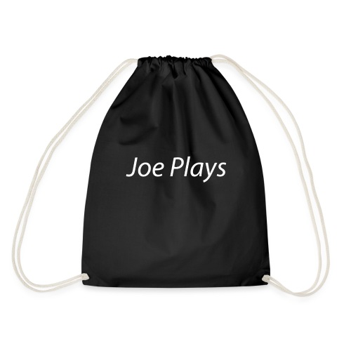 Joe Plays White logo - Gymbag