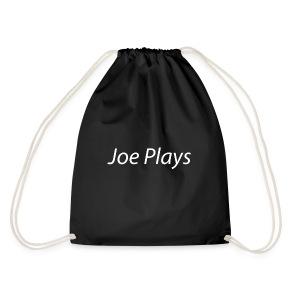 Joe Plays White logo - Gymbag