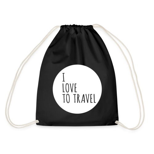 I love to travel - Turnbeutel