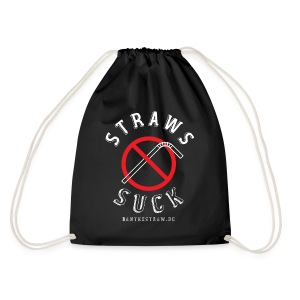 Back In Black with our Classic Logo - Drawstring Bag