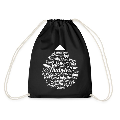 CURE DIABETES - Drawstring Bag