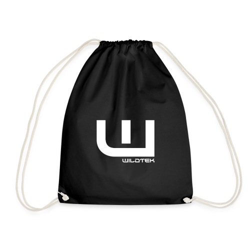 Wildtek Logo White - Drawstring Bag