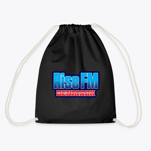 Rise FM Denmark Text Only Logo - Drawstring Bag