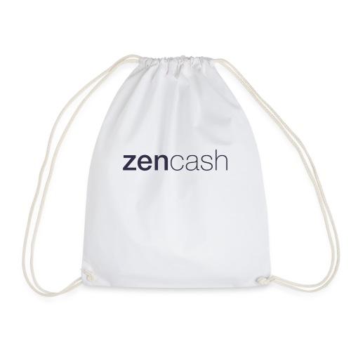 ZenCash CMYK_Horiz - Full - Drawstring Bag